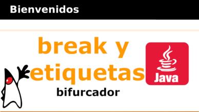 Estructuras de control BREAK y ETIQUETAS
