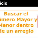 buscar numero mayor y menor